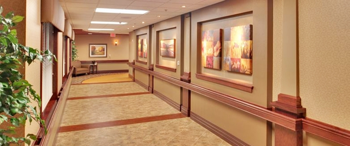 De Pere Rennes Health & Rehab Center Therapy Hallway