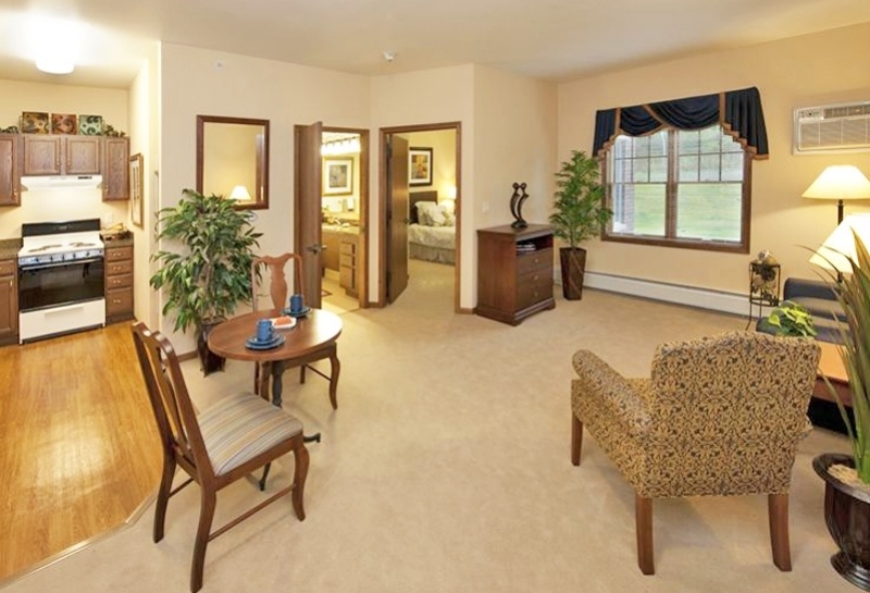 Weston Renaissance Assisted Living Apartment Living Room