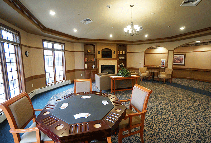 Weston Renaissance Assisted Living Game Room