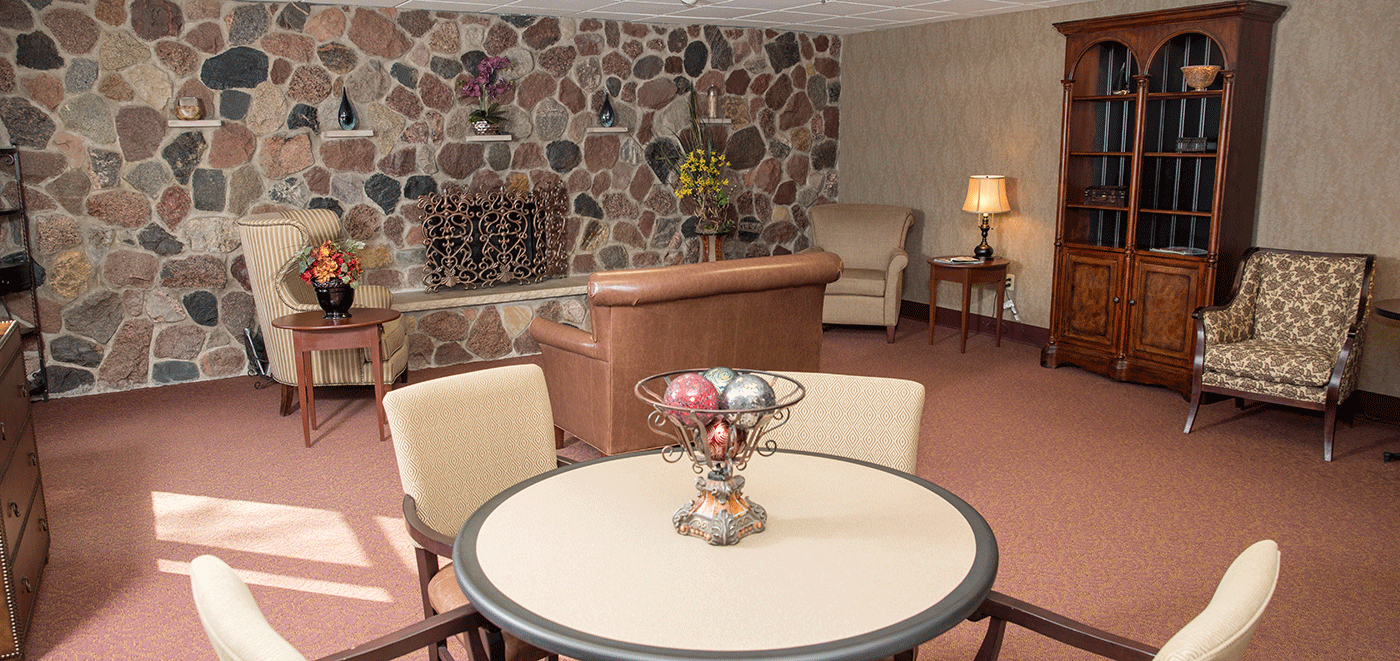 De Pere Rennes Health & Rehab Center Fireplace Lounge