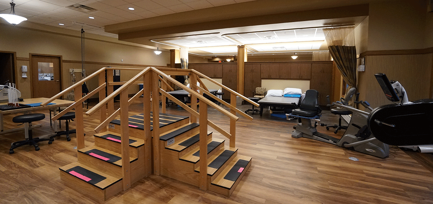 Weston Rennes Health & Rehab Center Therapy Gym